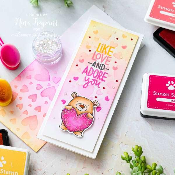 Valentine Bear Slimline Card