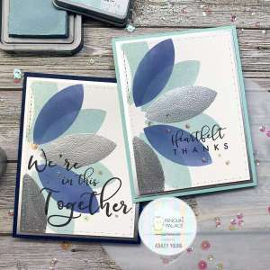 Stenciled Lotus Flower Cards