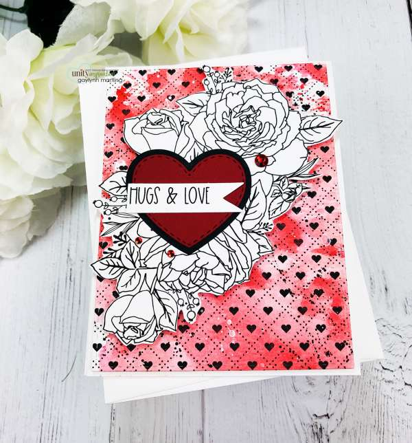 Valentine Card with Ink Smooshing