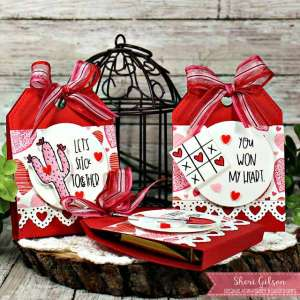 Tag Shaped Valentine Treat Holder
