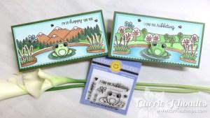 Frog Mini Slimline Cards