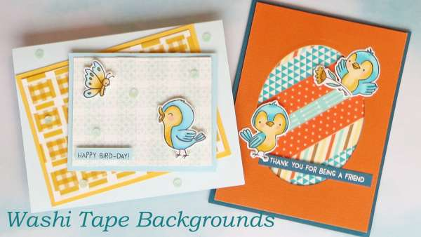 Create Card Patterns with Washi Tape