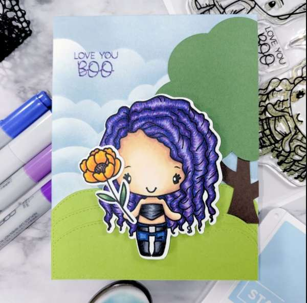 Purple Hair Copic Coloring