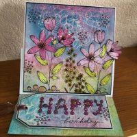 Birthday Floral Easel Card