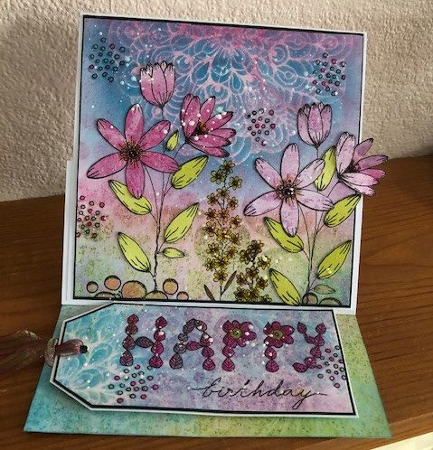 Birthday Floral Easel Card