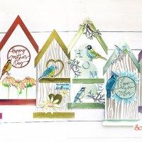 Birdhouse Shaped Cards