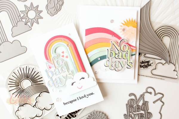 Rainbow Die Cut Cards