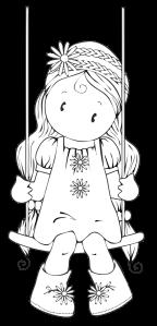 Girl on Swing Free Digital Stamp
