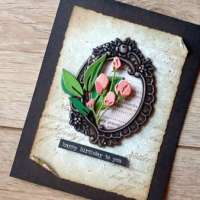 Faux Metal with Embossing and Wax