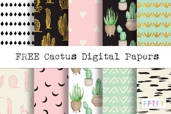 Free Cactus Pattern Paper
