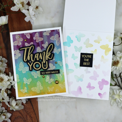 Distress Stain Card Backgrounds