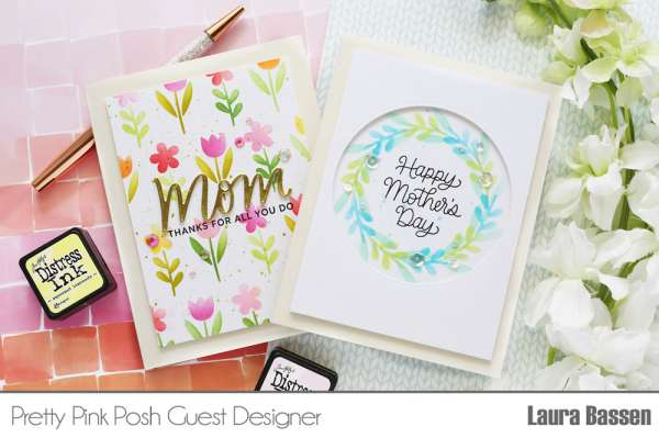 Stenciled Mother's Day Cards