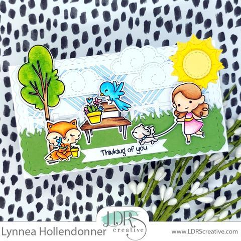 Mini Slimline Summer Scene Card