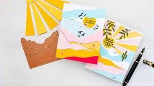 Color Blocked Landscape Cards