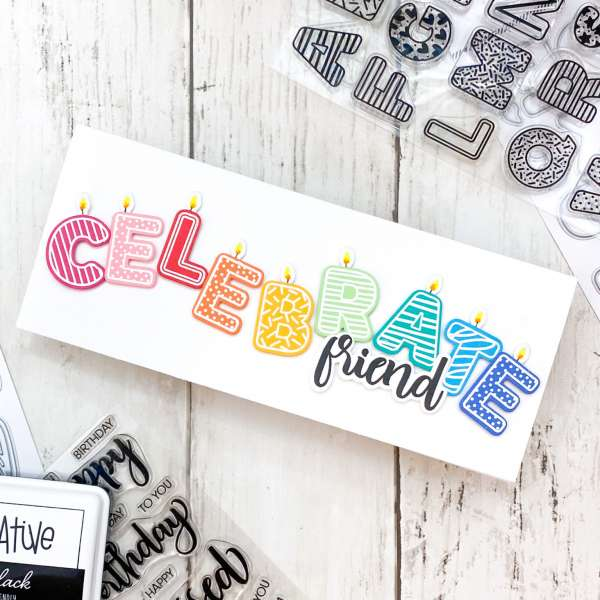 "Colorful ""Celebrate"" Card Tutorial"