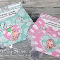 Make a Diaper Shaped Baby Card