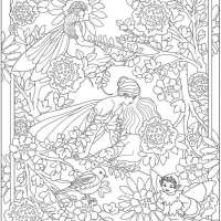 6 Free Fairy Garden Coloring Pages