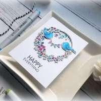 Happy Everything Wreath Card Tutorial