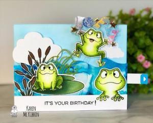 Interactive Birthday Frog Card