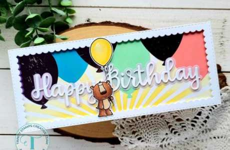 Layering Stencils Birthday Card Background