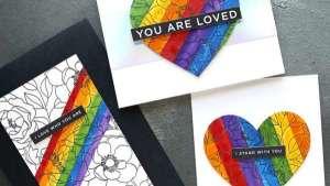 3 Rainbow Stripe Cards