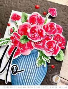 Vase of Roses Card Tutorial