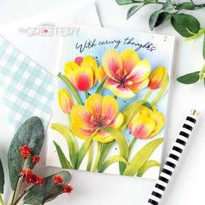 Tulip Dies Card Tutorial