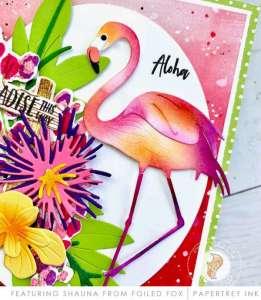 Flamingo Paradise Card Tutorial