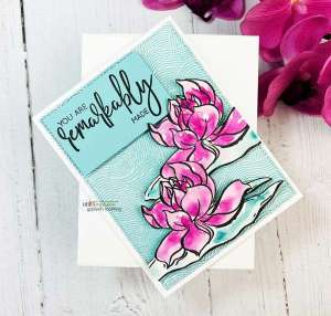 Lotus Watercolor Card