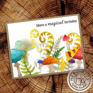 How to Use Dies to Create Stencils - Mushroom Card