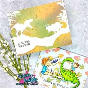 2 Dinosaur Cards