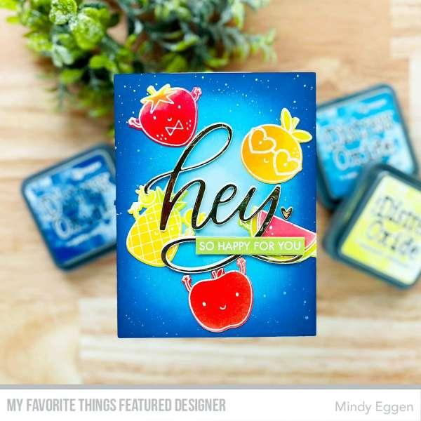 Fruit Card with Heat Emboss Resist Technique