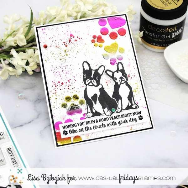 Foiled Dog Card