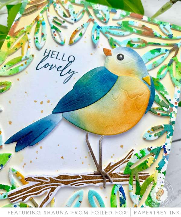 Lovely Bird Card with Inking Techniques