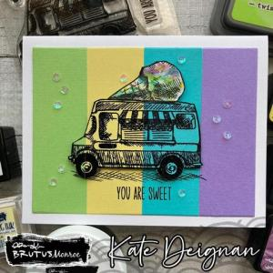 No Coloring Ice Cream Truck Card