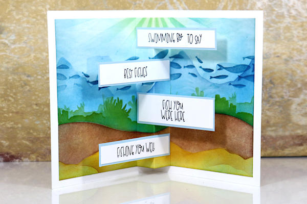 Pop Up Card with Sentiment Strips