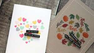 Creating Cards using Small Stamps
