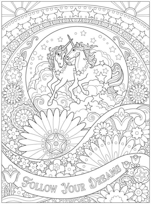 6 FREE Unicorn Coloring Pages