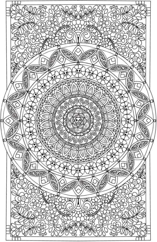 6 Eerie Entangled Coloring Pages