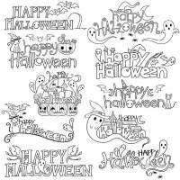10 FREE Happy Halloween Digital Stamps