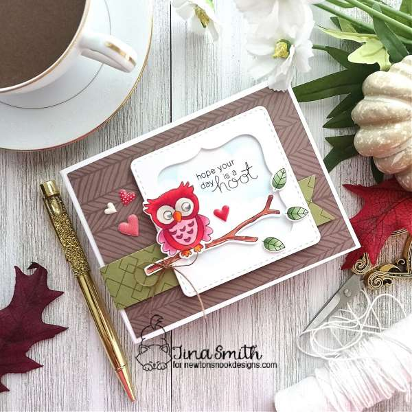 Hoot Owl Stamped Card