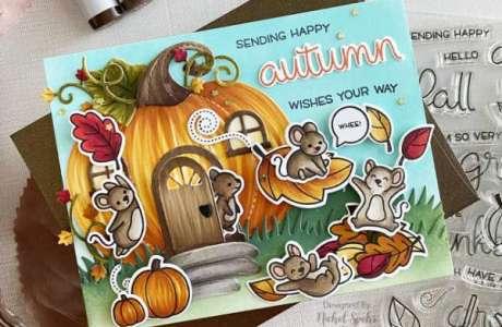 Pumpkin Mouse House Card