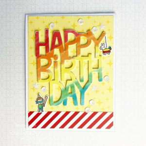 Rainbow Birthday Sentiment Card