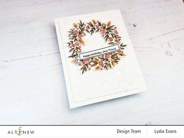 Autumn Wreath Card with Layering Stamps