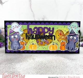 Halloween Slimline Shaker Card