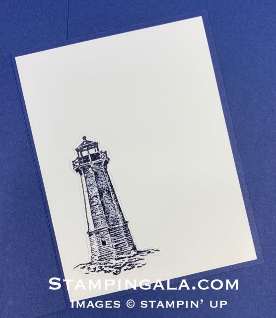Sailing Home masculine card.