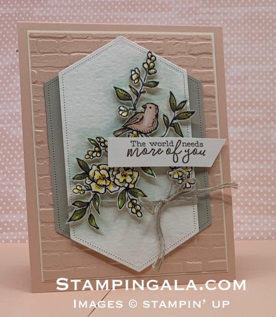 Thank you card featuring the Bird Ballad Designer Series Paper