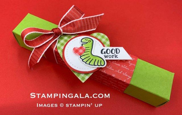 Treat holder using Harvest Hellos & Wiggle Worm stamp sets