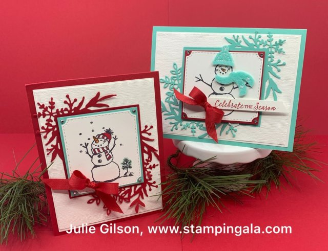 Christmas Cards, Snowman Season, Frosted Frames Dies,