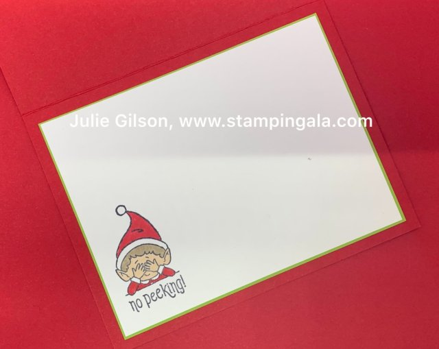 Learn how to create these Christmas projects using #Elfie stamp set from Stampin' Up! during my Facebook Live presentation. #Stampin' Up, #Stampin' Gala, #Hot Cocoa, #Christmas Cards